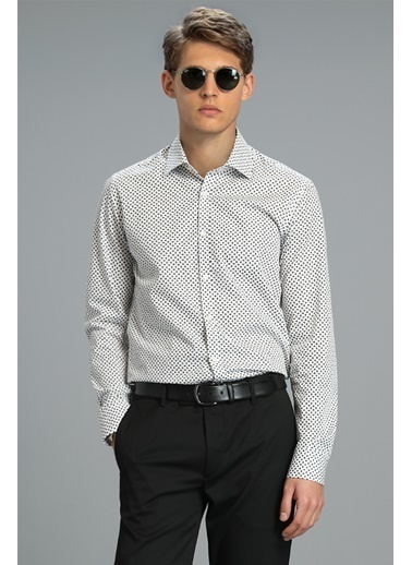 Lufian Sandur Smart Gömlek Slim Fit  Gri